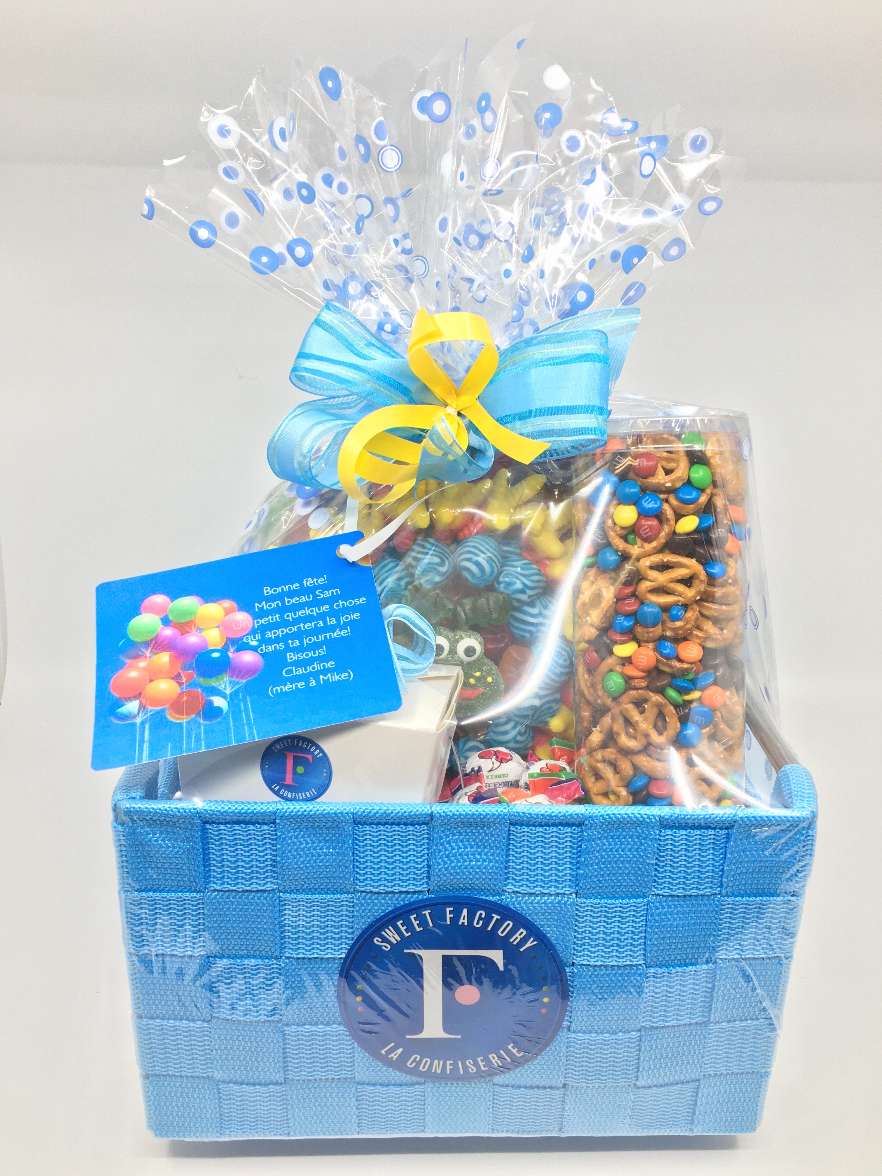 Blue Gift Basket